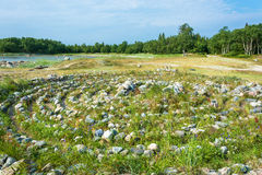 Kamienny labitynt na Solovki Fotografia Stock