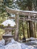 Kamienny lampion w Toshogu świątyni w Nikko, Japonia zdjęcie royalty free