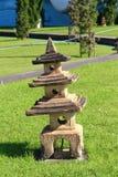 Kamienny lampowy chiński styl Fotografia Royalty Free