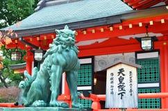 Kamienny lew w Kobe Obrazy Stock