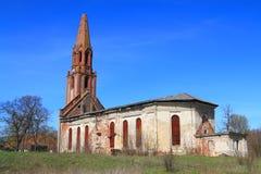 Kamienny Luterański kościół Kaukemen 1706 budowa Fotografia Royalty Free
