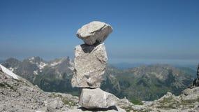 Kamienny mężczyzna w Allgau Alps blisko Oberstdorf, Niemcy Zdjęcie Stock