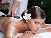 Kamienny masaż Fotografia Royalty Free