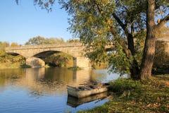 Kamienny most w Porici nad Sazavou, republika czech obraz stock