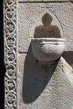 Stoups na wejściu kościół Zdjęcia Royalty Free