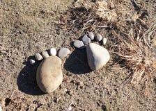 Kamienny odcisk stopy zdjęcie royalty free