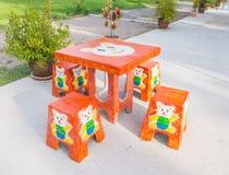 Kamienny ogródu stołu set Obraz Stock