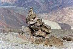 Kamienny ostrosłup przy Śmiertelną doliną Obraz Royalty Free