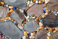 Kamienny paciorkowaty Podłogowy tło fotografia royalty free