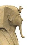 Kamienny Pharaoh Tutankhamen ilustracji