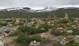 Kamienny piramida w Artic okręgu Centre Fotografia Stock