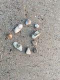 Kamienny plażowy serce Zdjęcia Royalty Free