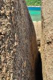 Kamienny rockowy Koh Tao - raj wyspa w Tajlandia. fotografia stock