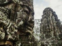 Kamienny rzeźbiony skład na jeden świątynie fotografia royalty free