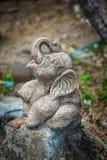 Kamienny słoń na ulicie Obrazy Stock