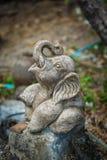 Kamienny słoń na ulicie Obrazy Royalty Free