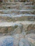 Kamienny schodek z zacementowanym popielatym kroka wzorem Brown schody ri Zdjęcie Stock