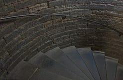 Kamienny schody w ceglanym domu Obraz Royalty Free