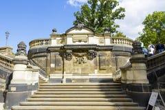 Kamienny schody w Drezdeńskim Zdjęcia Royalty Free