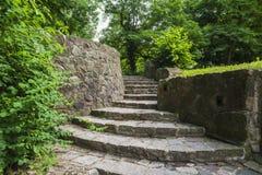 Kamienny schody w parku Obraz Stock
