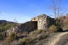 Kamienny schronienie w Pyrenees, Francja Zdjęcie Stock