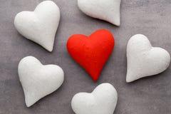 Kamienny serce na szarym tle dodać dni walentynki tła formatu wektora Zdjęcie Stock