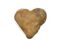 Kamienny serce odizolowywający Fotografia Royalty Free