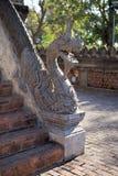 Kamienny smok na schodkach przy Haw Pha Kaeo świątynią w Vientiane, Laos Zdjęcia Stock