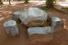 Kamienny stół zdjęcia royalty free