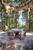 Kamienny stół Przy Afterglow mauzoleumem Zdjęcia Stock