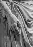 Kamienny statua szczegół ludzka ręka Obraz Stock