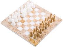 Kamienny szachy Ustawia II zdjęcia royalty free