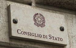 Kamienny talerz Włoski Consiglio Di Stato Zdjęcie Royalty Free
