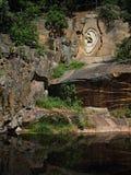 Kamienny ucho w starej kamiennej jamie Obrazy Stock