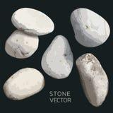 Kamienny wektor, set wektoru kamień dla projekta Dekoracyjny karciany robić, poślubiający zaproszenie i więcej ilustracja wektor