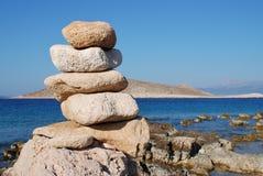 Kamienny wierza, Halki wyspa Zdjęcia Royalty Free