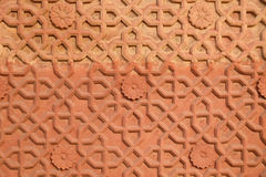 Kamienny wzór na ścianie w Czerwonym forcie, Agra Zdjęcia Stock