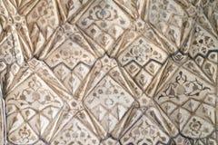 Kamienny wzór na ścianie w Czerwonym forcie, Agra Obraz Royalty Free