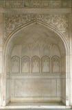 Kamienny wzór na ścianie w Czerwonym forcie, Agra Fotografia Stock