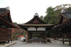 Kamigamo寺庙舞厅在京都 免版税库存图片