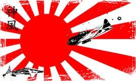 Kamikaze. Vector illustration of a kamikaze Stock Photos