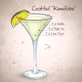 Kamikaze alcohol cocktail Royalty Free Stock Photos