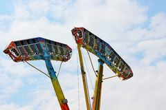 Kamikaze in mid air in a funfair Royalty Free Stock Photography