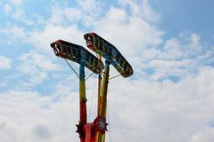 Kamikaze in mid air in a funfair Stock Image