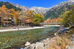Kamikochi in de herfst Royalty-vrije Stock Afbeeldingen