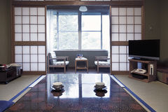 KAMIKOCHI,JAPAN- MAY 22,2016: traditional Japanese room in traditional style Stock Photography