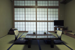 KAMIKOCHI,JAPAN- MAY 22,2016: traditional Japanese room in traditional style Royalty Free Stock Photos