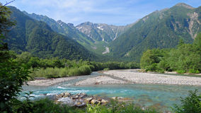 Kamikochi in the Japanese Alps Royalty Free Stock Images