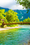 Kamikochi Kappa Bridge River Mount Hotaka-Dake V Royalty Free Stock Photos