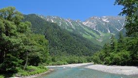 Kamikochi nelle alpi giapponesi Fotografia Stock Libera da Diritti